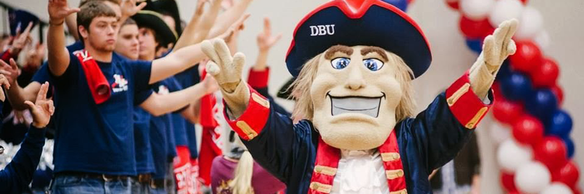 Dallas Baptist University mascot: Patriot