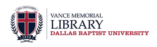Dallas Baptist University Vance Memorial Library logo